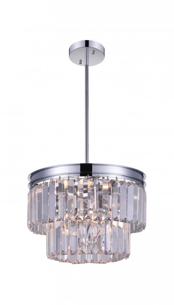 5 light down mini chandelier with chrome finish 3069egj 5 light down mini chandelier with chrome finish aloadofball Choice Image